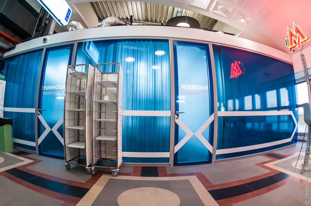 Московский офис Google оформлен в виде столичного метро